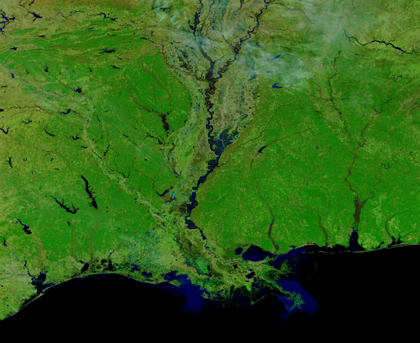 Flooding in Louisiana and Mississippi