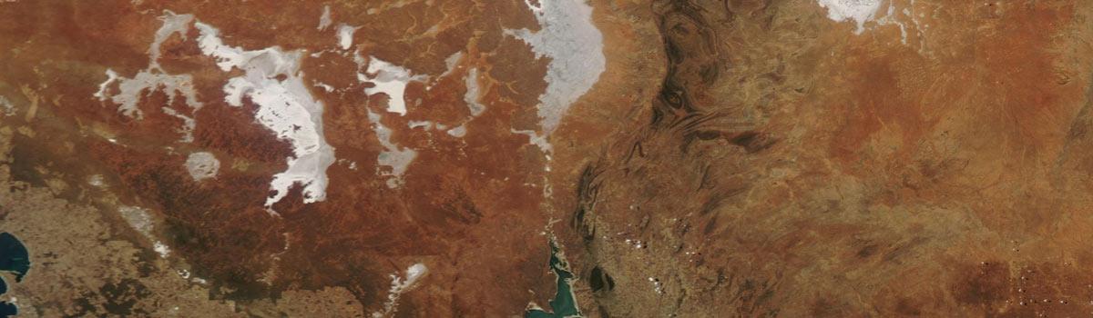Lake Gairdner and Lake Torrens, Australia