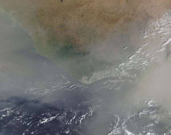 Massive Dust Storm off Africa