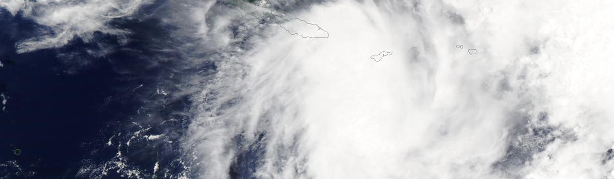 Tropical Cyclone Vicky over Samoa and American Samoa