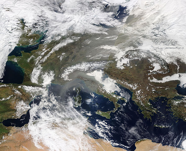 Dust over Europe