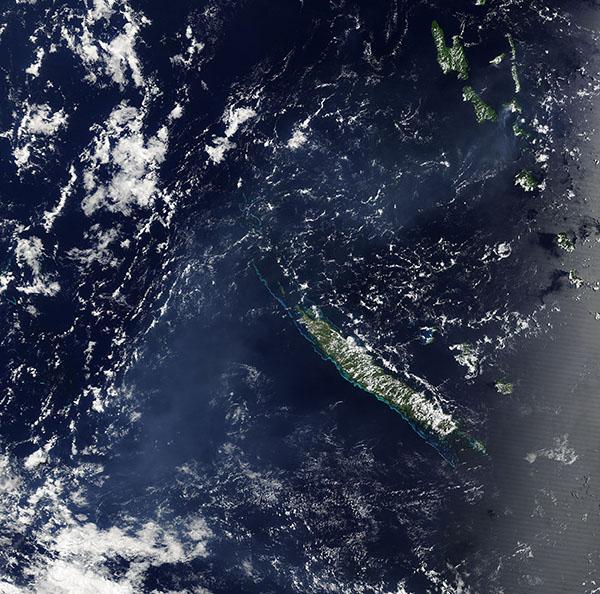 Vog from Ambrym volcano, Vanuatu
