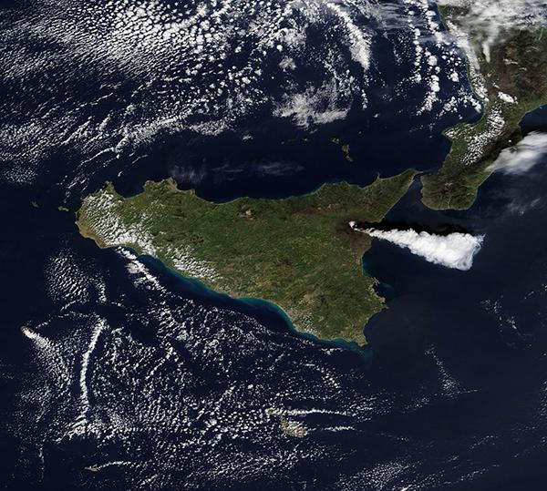 Eruption at Mt. Etna