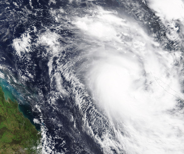 Tropical Cyclone Gretel in the Coral Sea