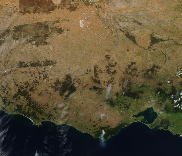 Fires in Victoria