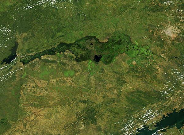 Kafue River, Zambia, Manyeke Lake