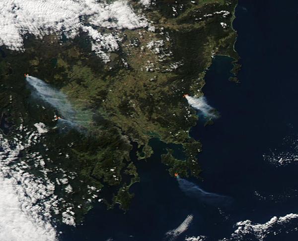 Fires in Tasmania