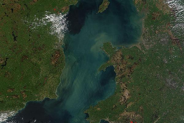 Sediment in the Irish Sea