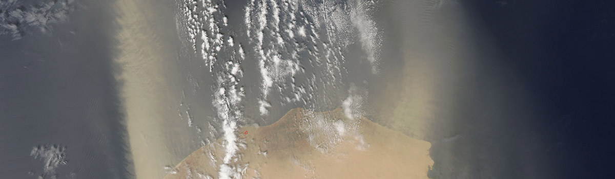 Dust storms off Libya