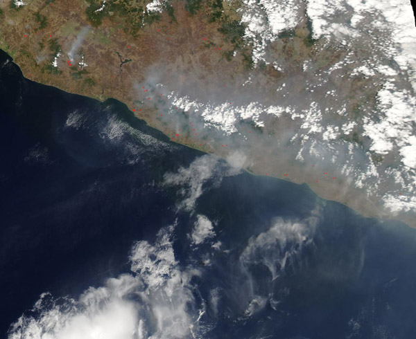 Fires in Mexico