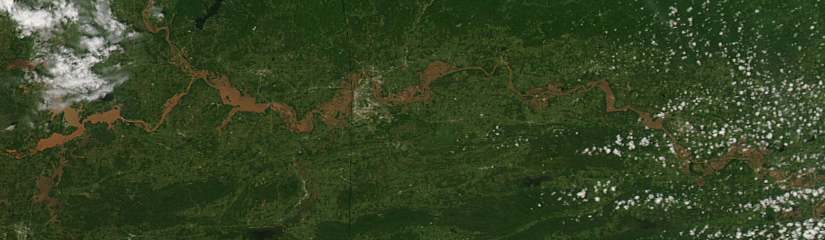 Flooding in Oklahoma and Arkansas