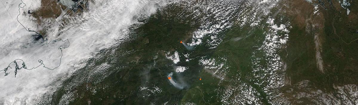 Fires near Fairbanks, Alaska