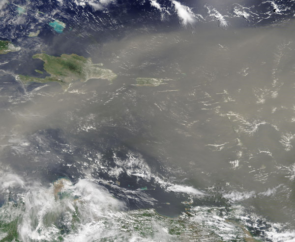 Saharan Dust over the Caribbean