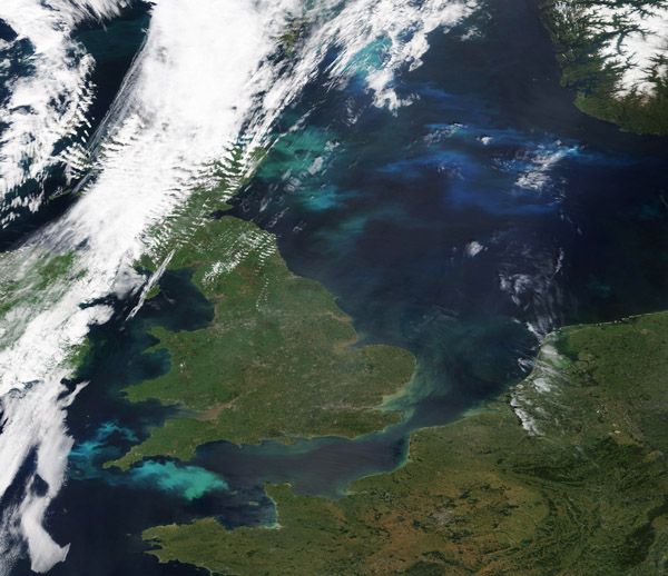 Phytoplankton Blooms off Europe