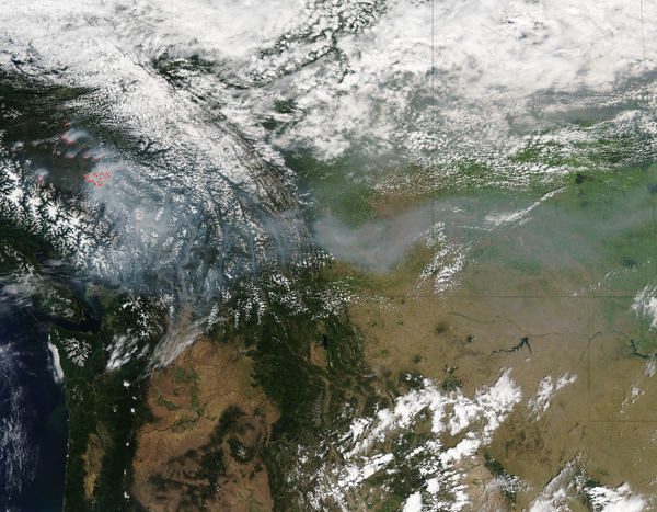 Smoke and fires across western Canada
