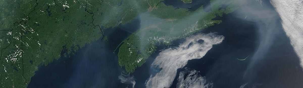 Smoke over the Maritimes