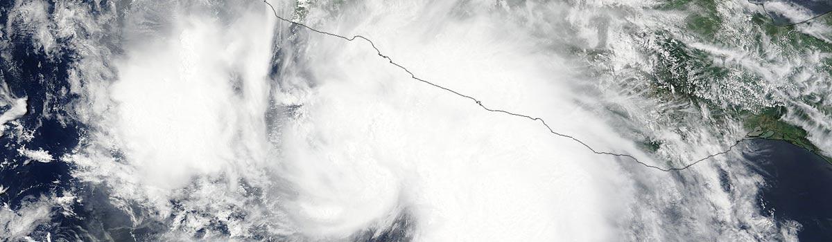 Tropical Storm Dolores (05E) over Mexico