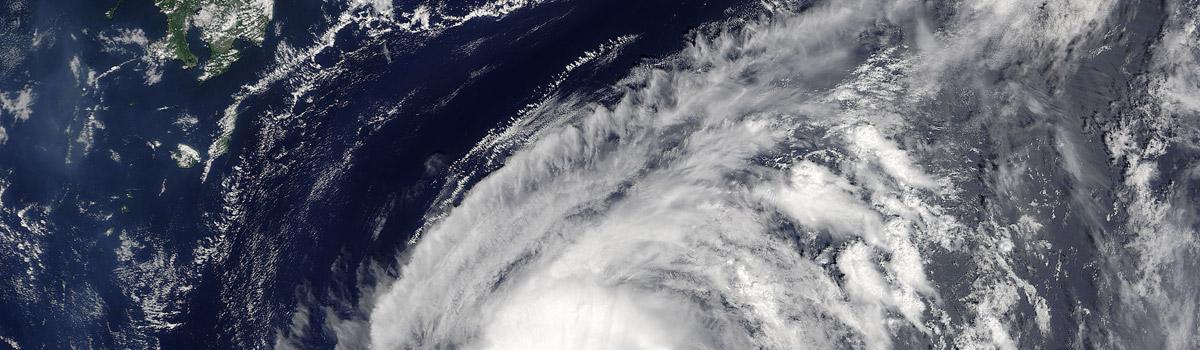Tropical Storm Lionrock (12W) off Japan