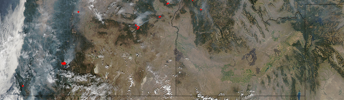 Fires and smoke in Washington, Oregon, Idaho, and California