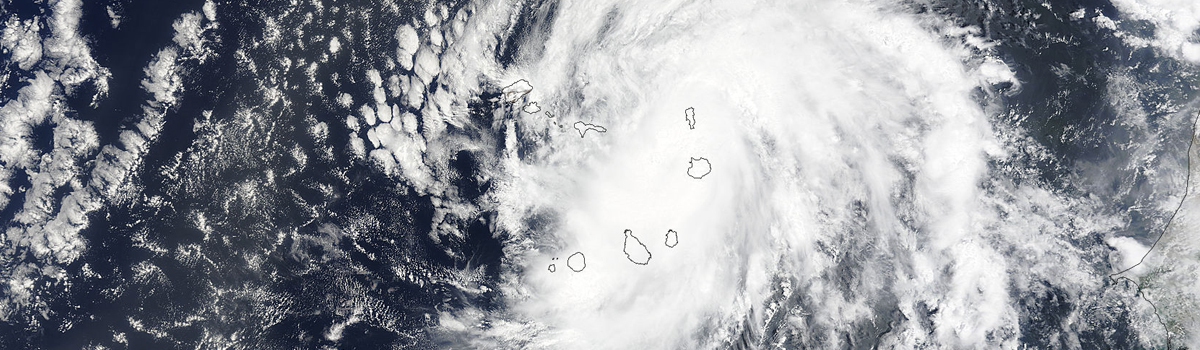 Hurricane Fred (06L) over the Cape Verde Islands