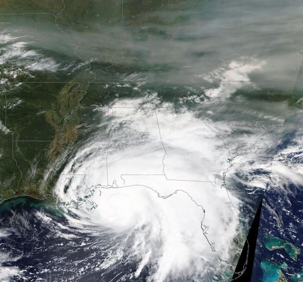 Hurricane Sally and Smoke from West Coat Wildfires