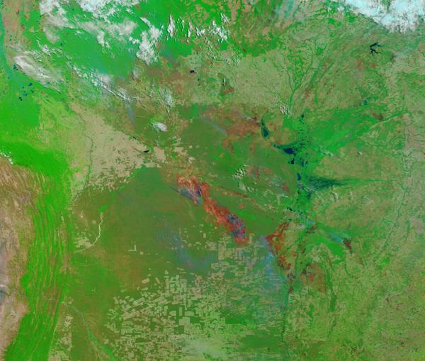 Burn Scars in Bolivia