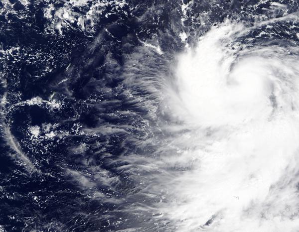 Super Typhoon Hagibis off Guam