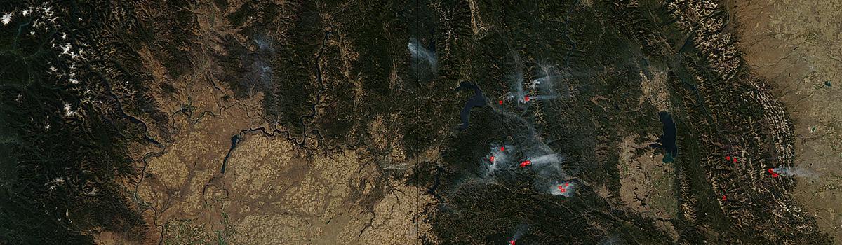 Fires in Idaho, Montana, and Washington