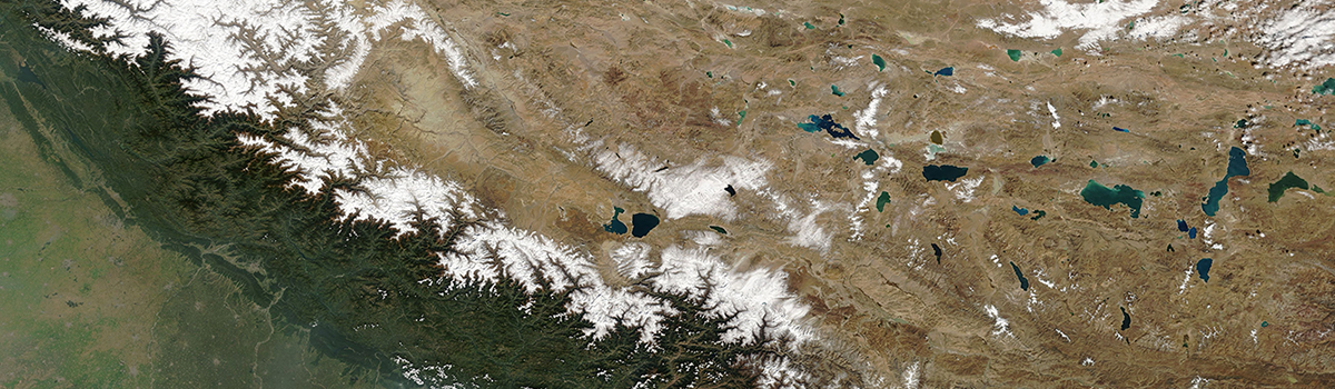 India, Nepal, and Tibet