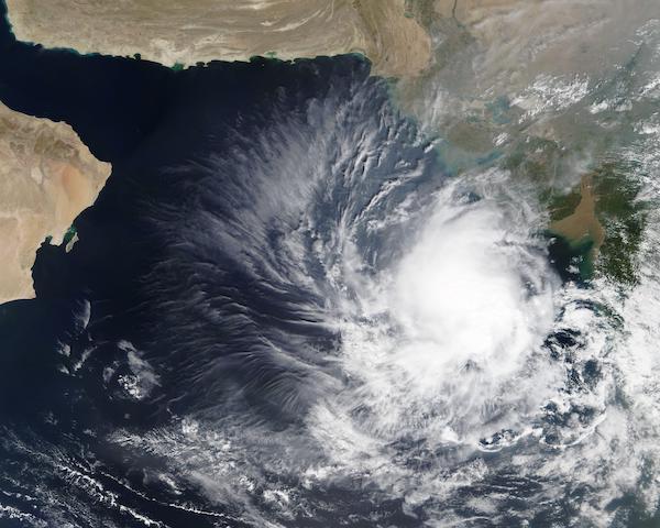 Storm off India