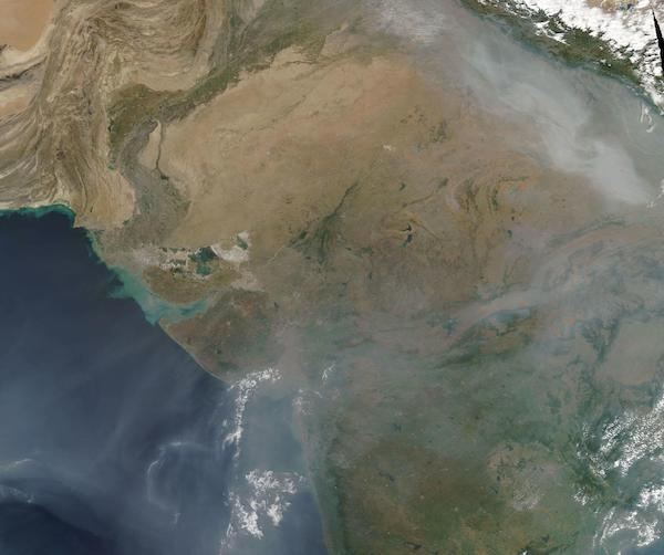 Fires in India and N. Pakistan