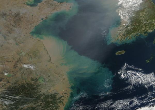 Sediment in the Yellow Sea