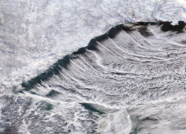 Cloud Streets in the Sea of Okhotsk
